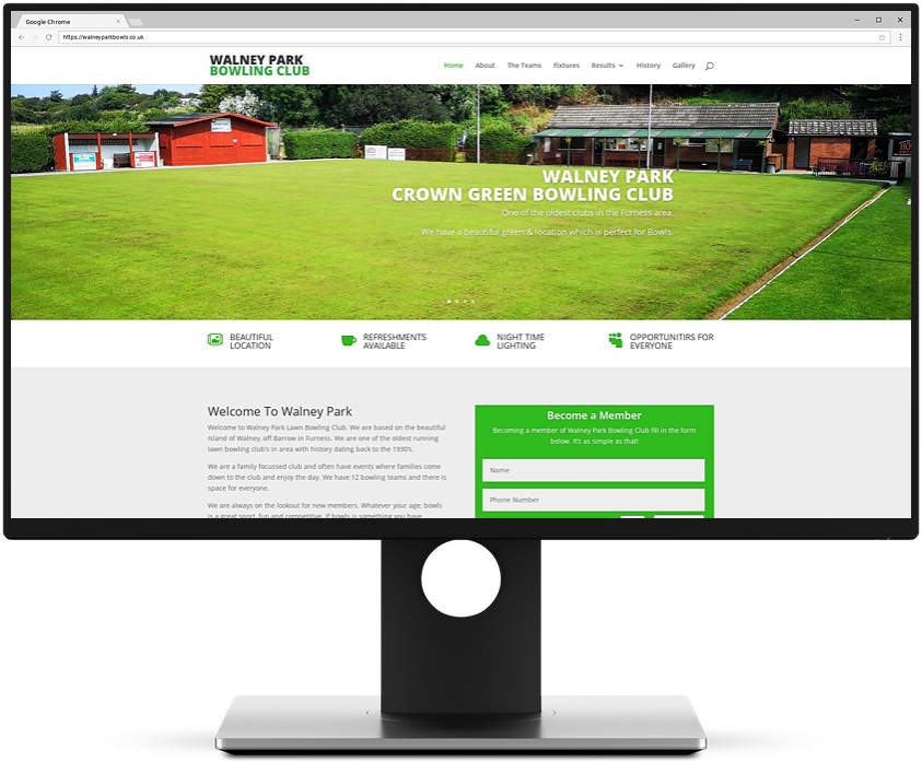 Rhino Web - Walney Park Bowling Club Web Design