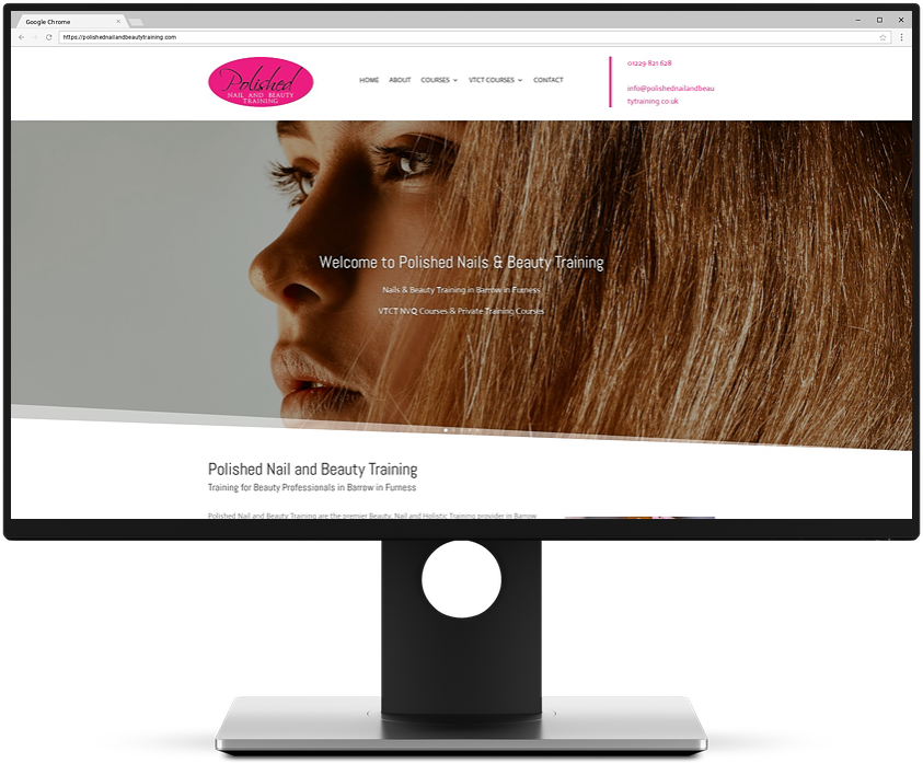 Rhino Web - Web Design - Polished Nail and Beauty Training